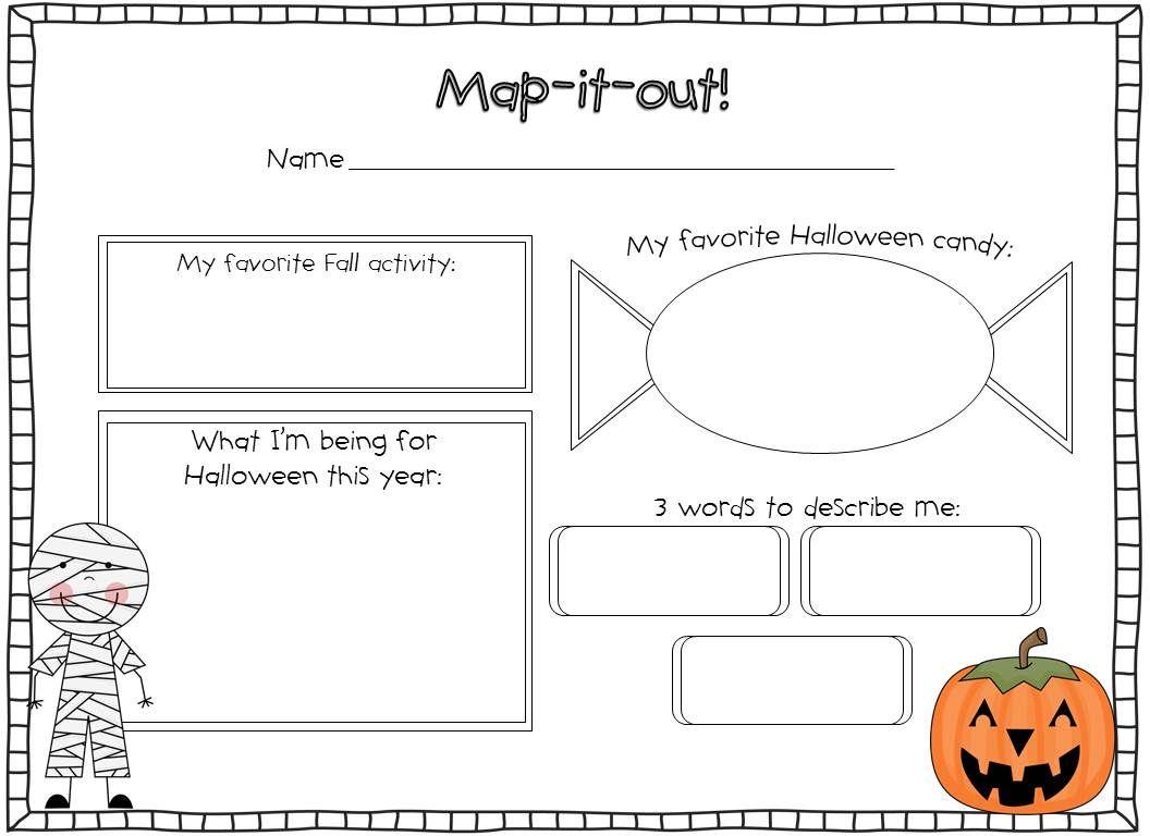 Third Grade Halloween Worksheet