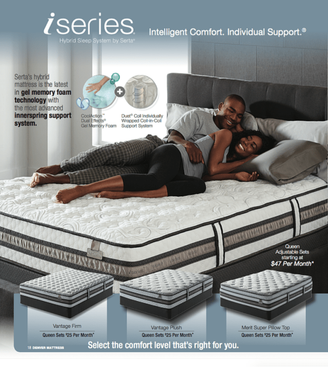 The Iseries Hybrid Sleep System By Serta At Denver Mattress Pricing And Finance