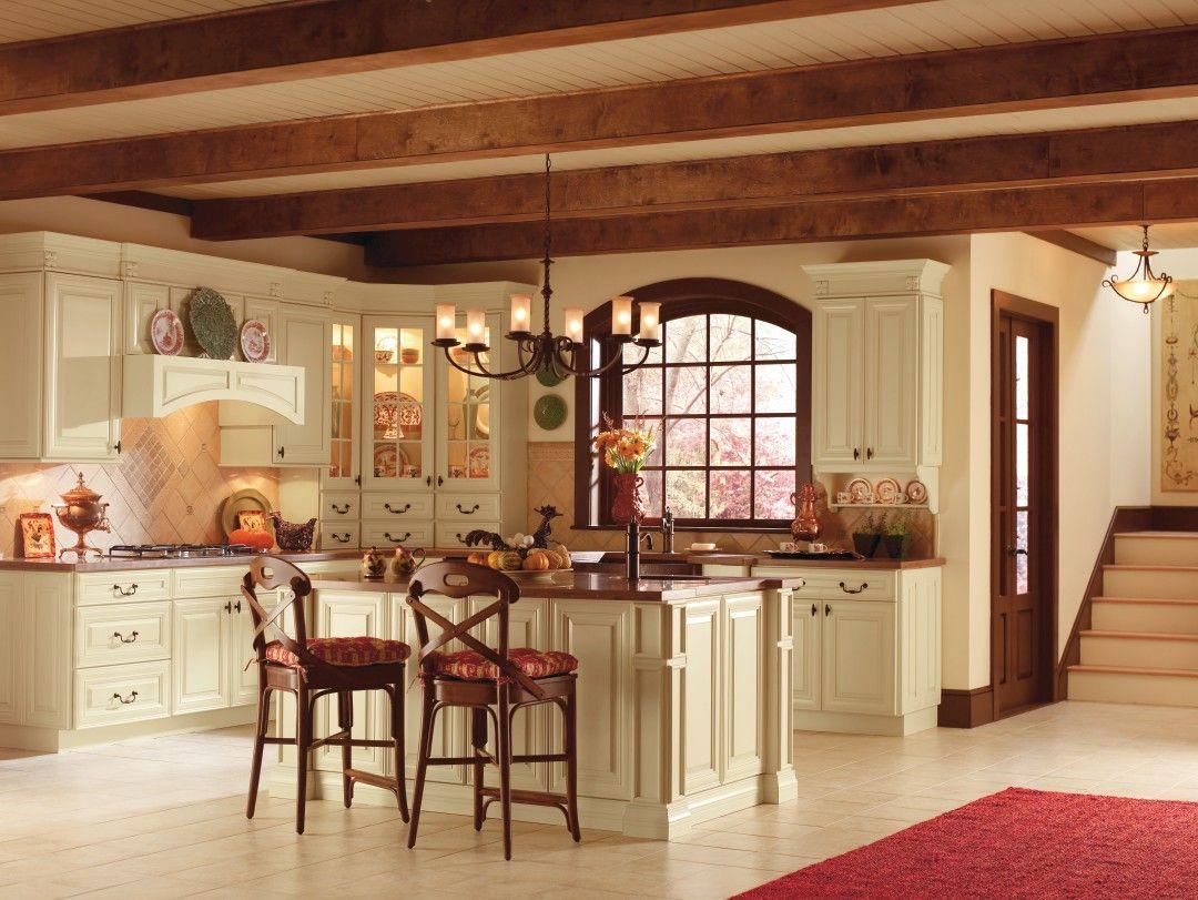 Camden Maple Cornsilk Kitchen, By Thomasville Cabinetry