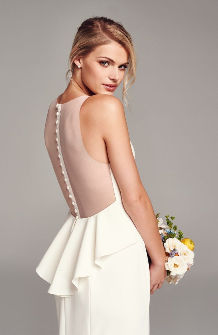 Back Detail Flared Silk Crepe Gown  Silk gown Gowns and Ruffles