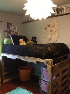 DIY Pallet Kids Bed Diy Pallet Bed Pallets And Shelves