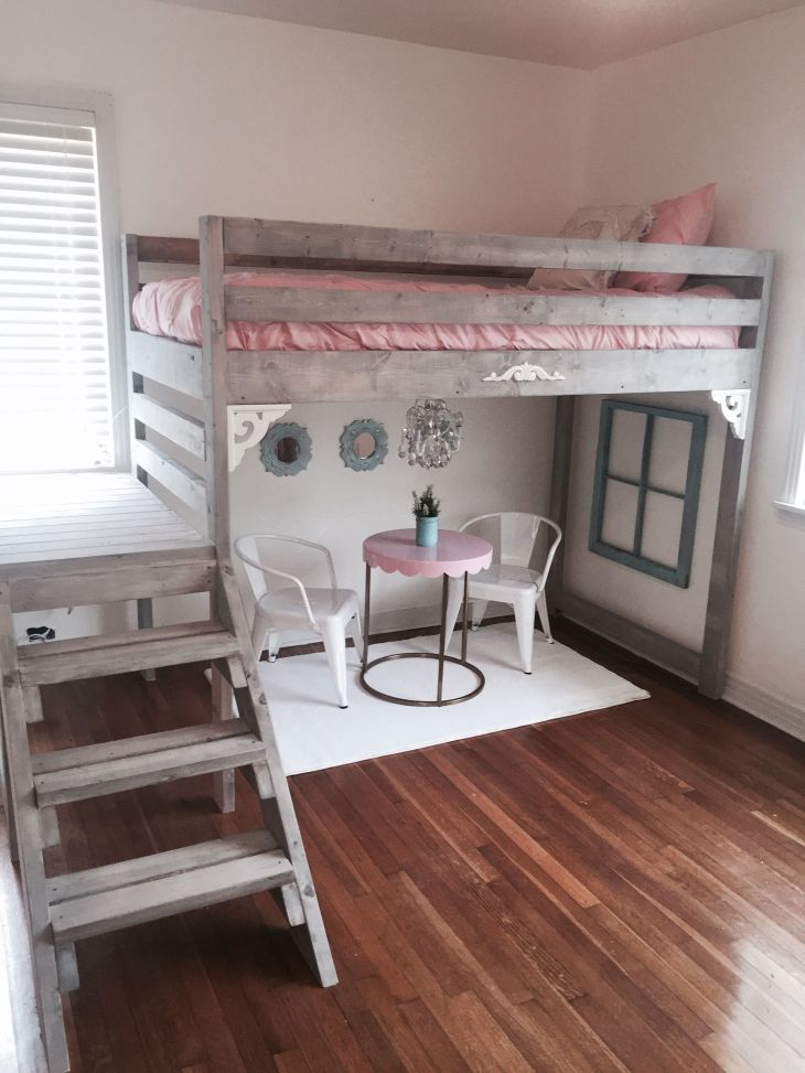 Ana white loft bed I made for my daughters room  Kids  Pinterest
