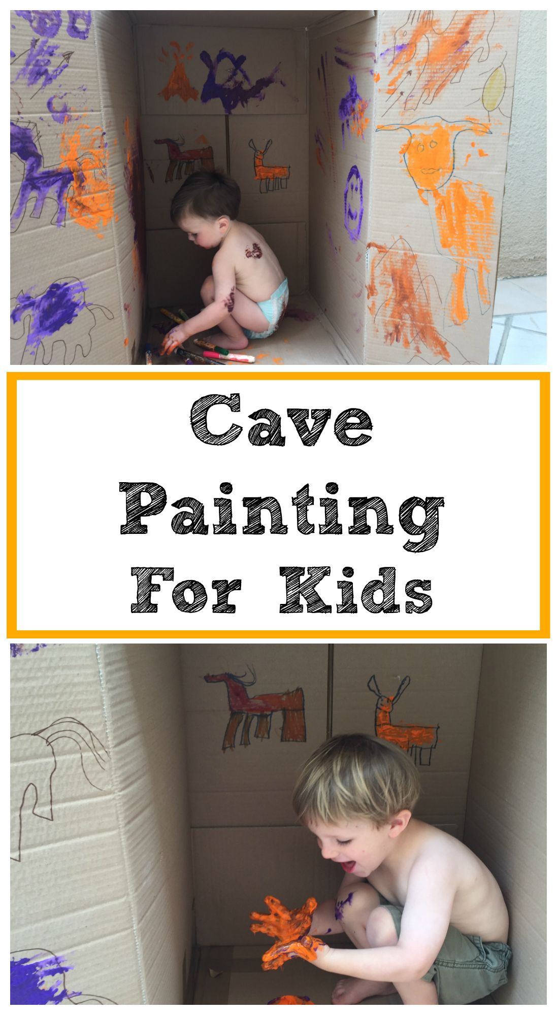 Cave Painting For Kids Activity A Fun And Easy Way For Our Children To Learn About Prehistoric