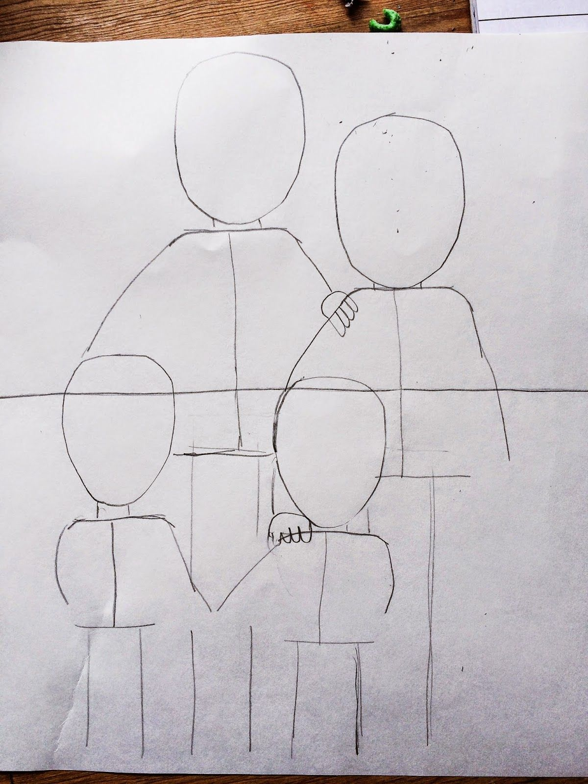 Smart Class 2nd Grade Family Portraits Step By Step Lesson