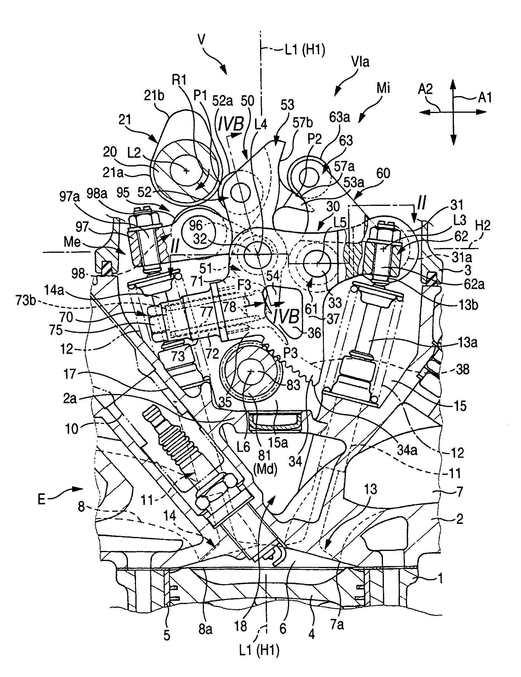 Valve Train Of Internal Combustion Engine Schematic