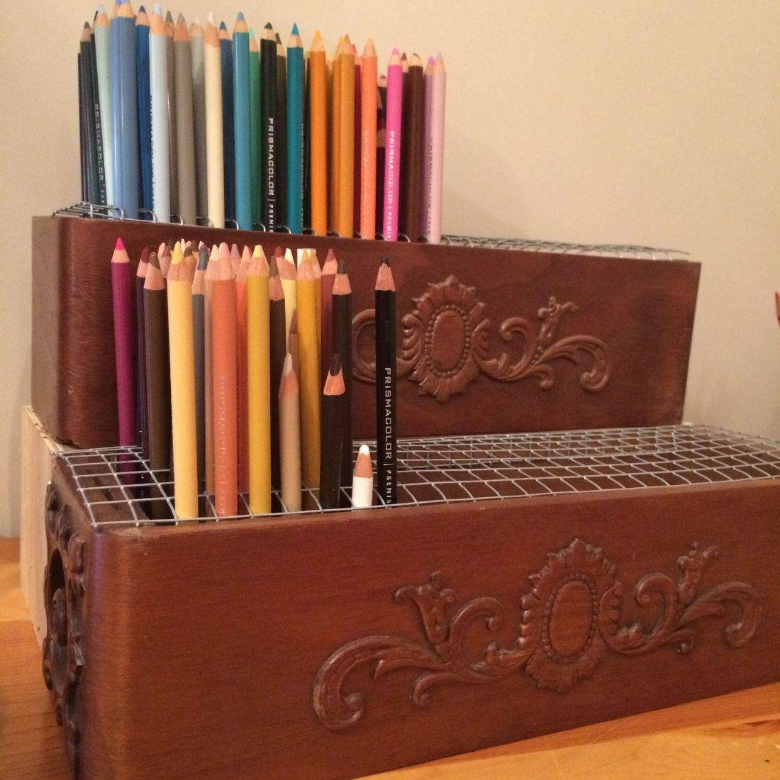 Colored pencil storage for the most popular coloring