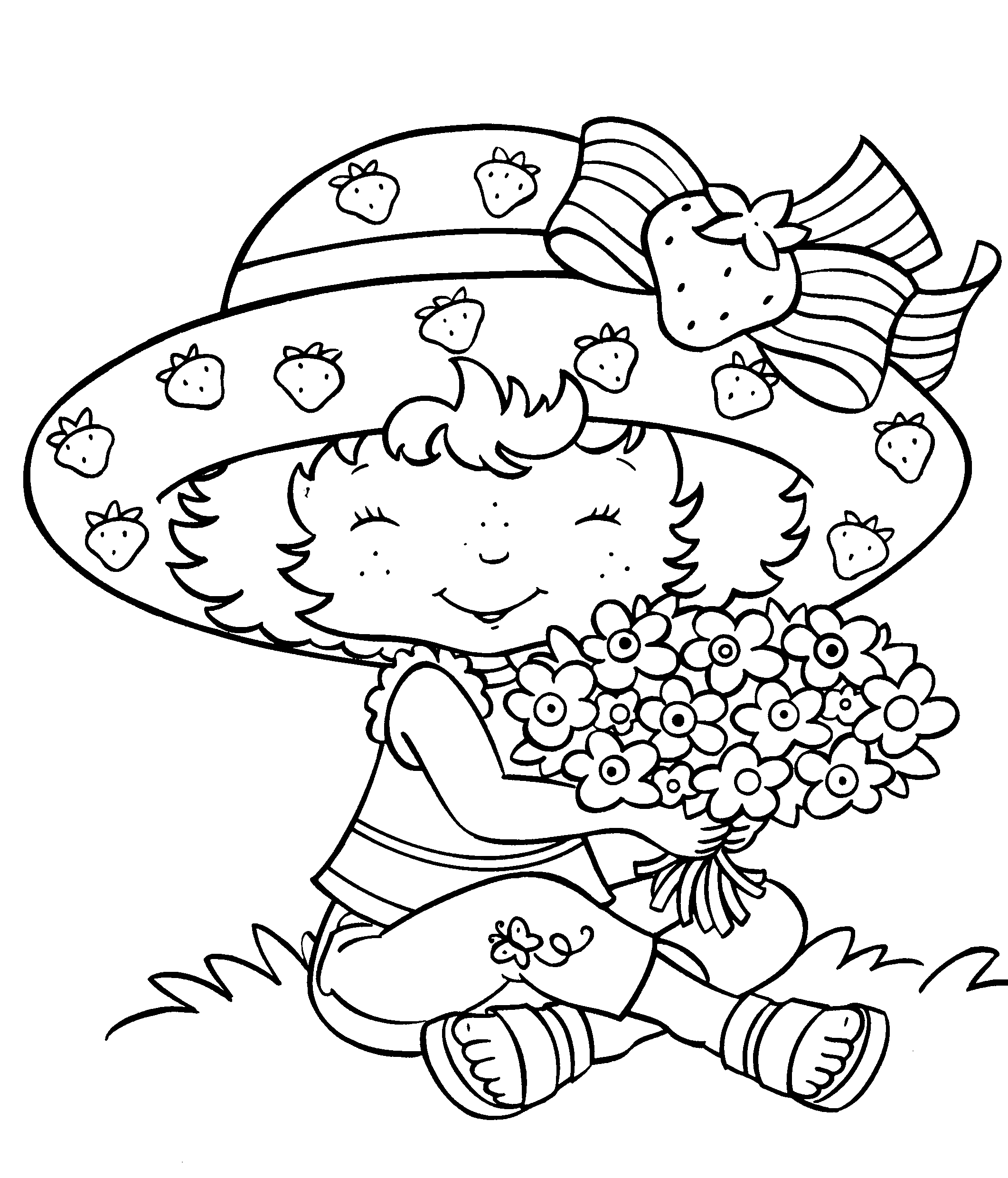 Download Strawberry Shortcake Coloring Pages