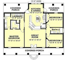 2 Bedroom Bathroom Single Story House Plans Google Search