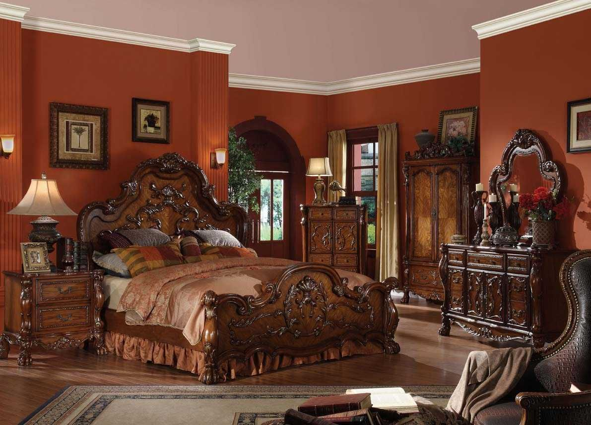 panel bedroom set | carved headboard | european style furniture
