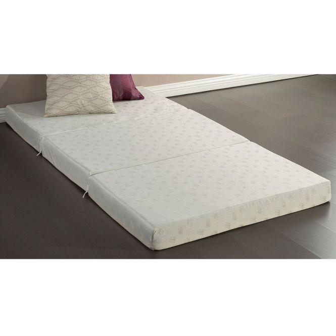 Twin Size 4 Inch Thick Memory Foam Guest Bed Mat Folding Mattress