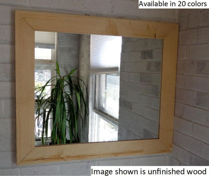 Renewed Décor Shiplap Reclaimed Wood Mirror in  stain colors