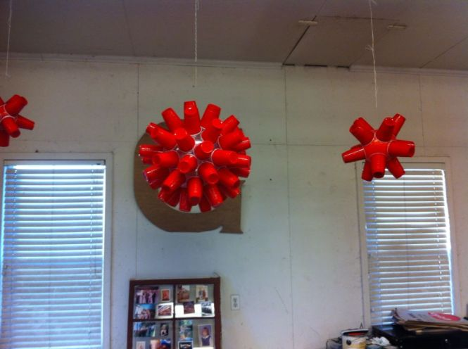 Made These Red Solo Cup Chandeliers For A Party Mine Out Of Rubber