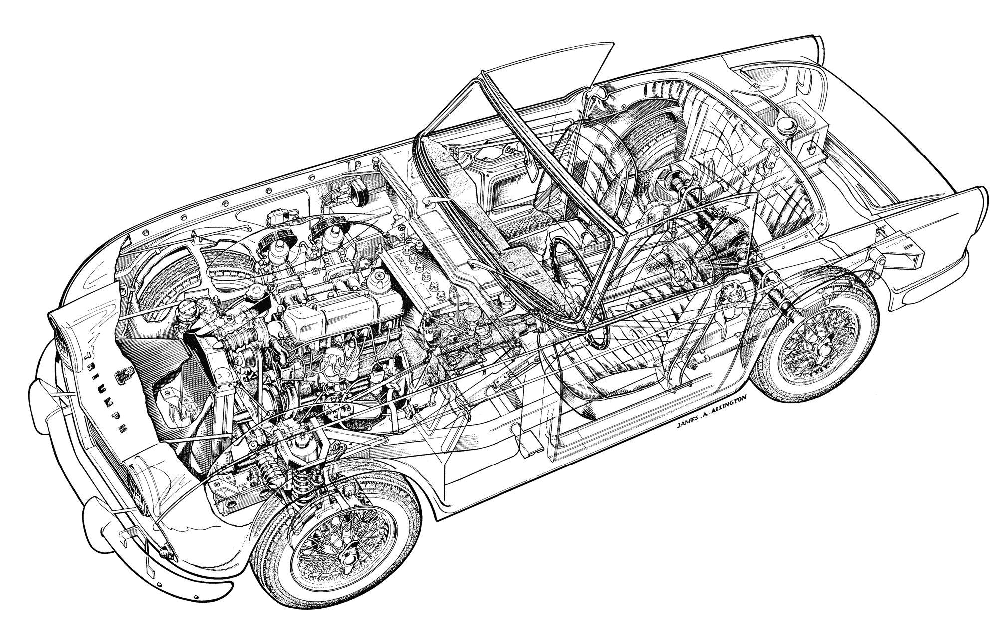 Triumph Tr4 By James A Allington Car Amp Driver October