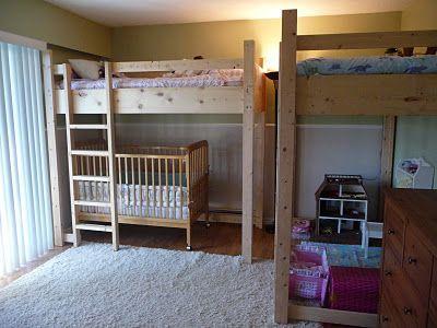 Crib Under Loft Bed Novocom Top