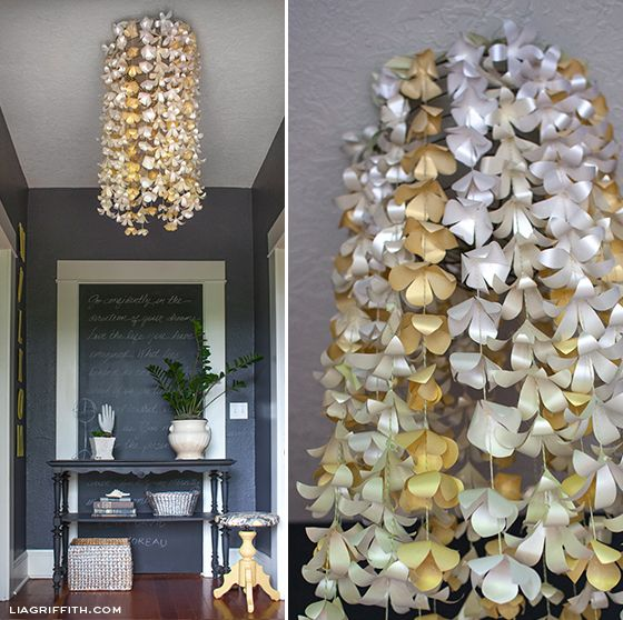Eclectic Home Tour Lia Griffith Flower Chandeliery Chandelierpaper