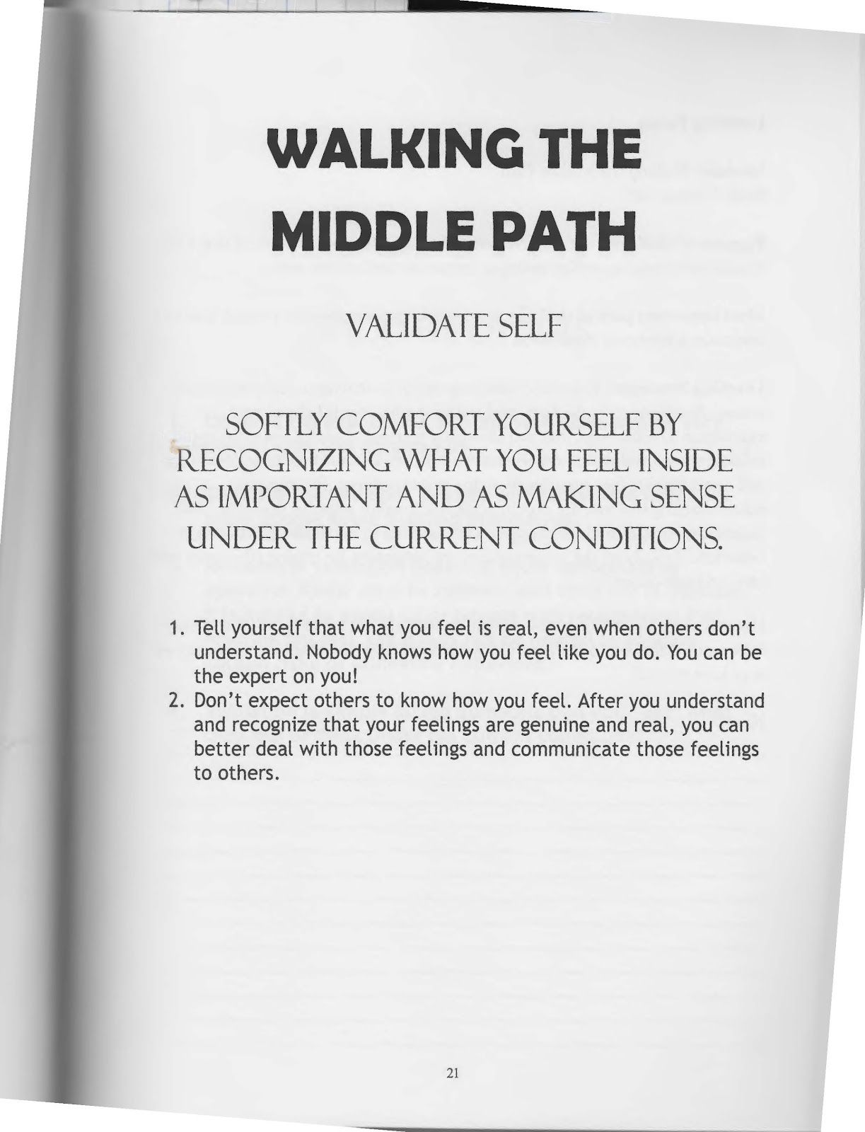 The Art Of Dialectical Behavior Therapy Walking The Middle Path