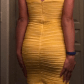 Yellow strapless stretch cocktail dress daisies brown and dresses