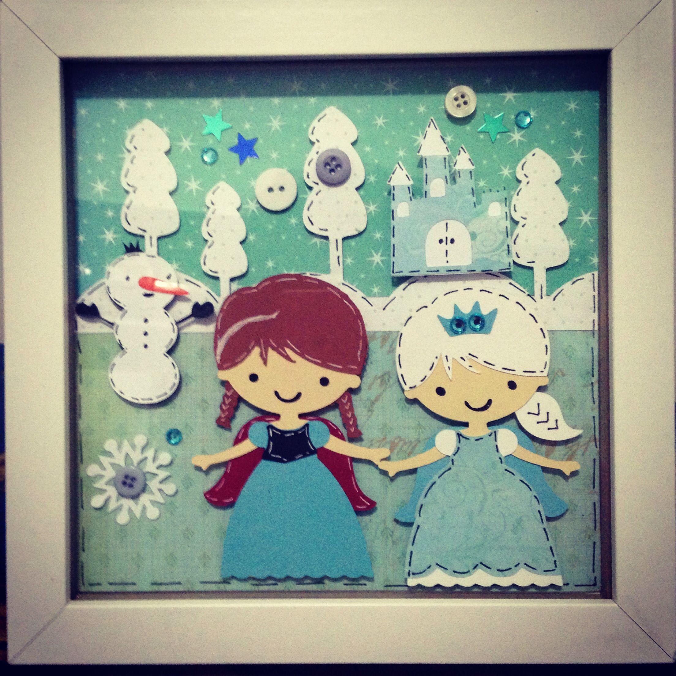 Frozen Inspired Wall Art Cricut Create A Friend