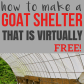How to make a quick shelter out of pallets goat shelter pallet