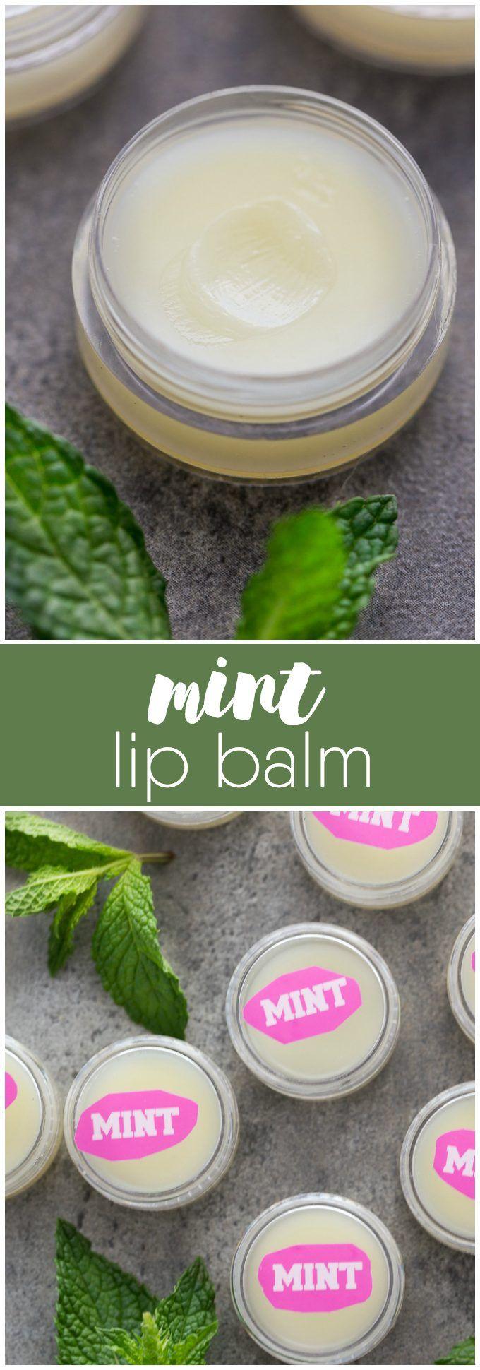 Mint Lip Balm  Recipe  Lips Easy and Recipes