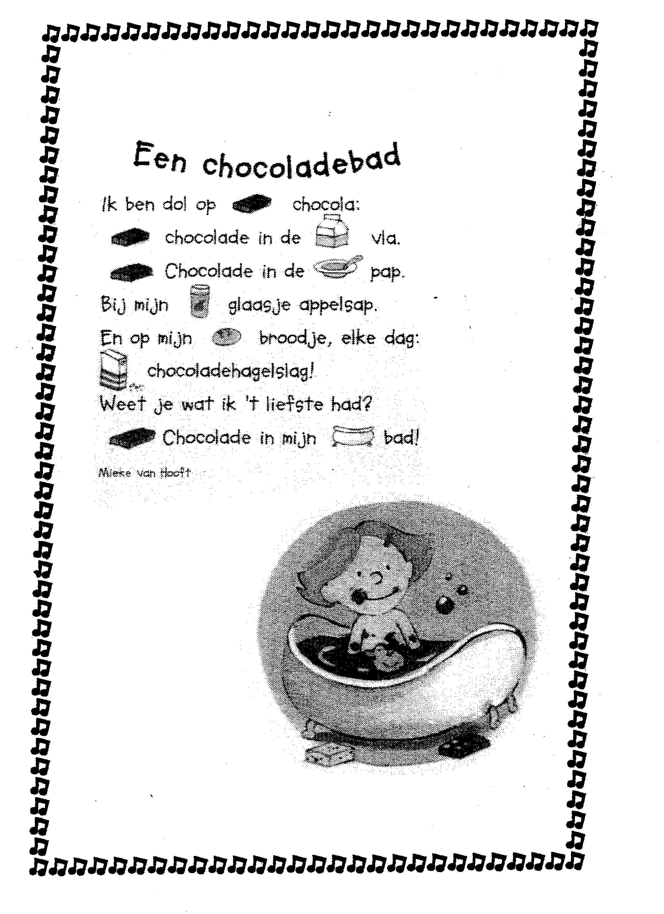 Versje Chocoladebad