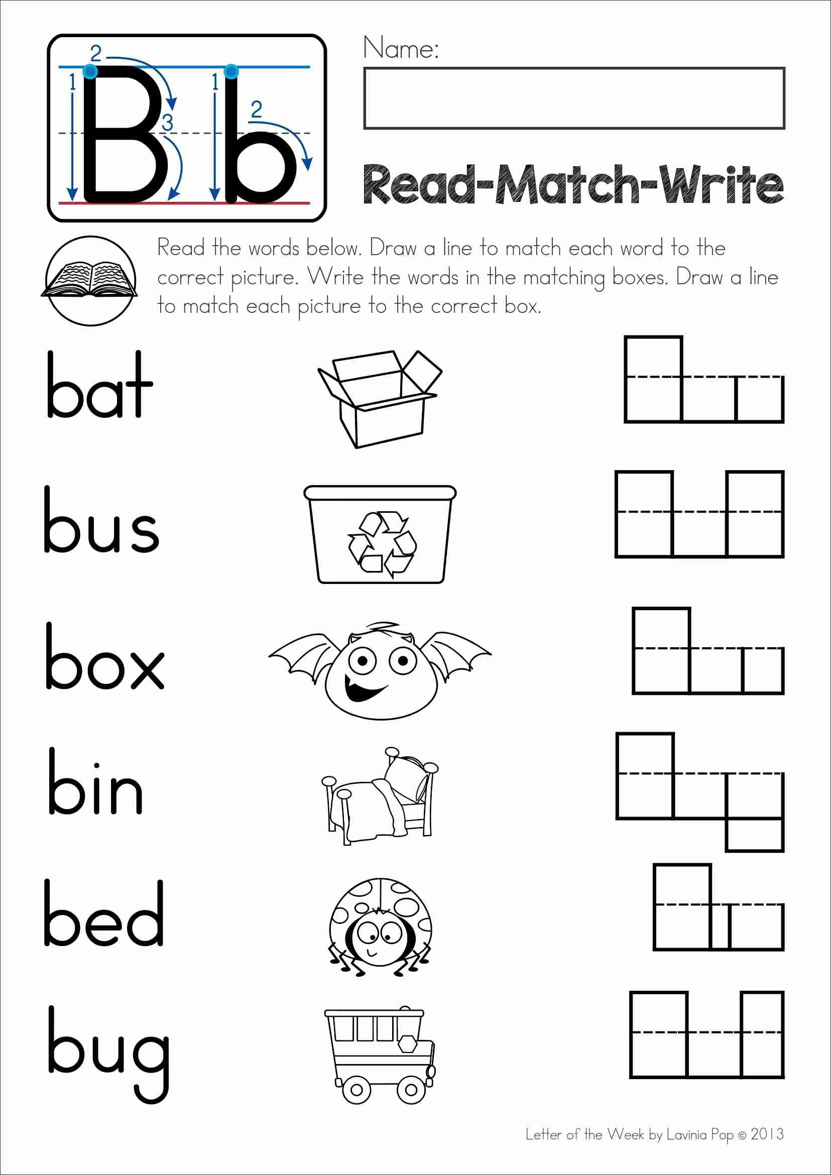Free Phonics Letter Of The Week B Read