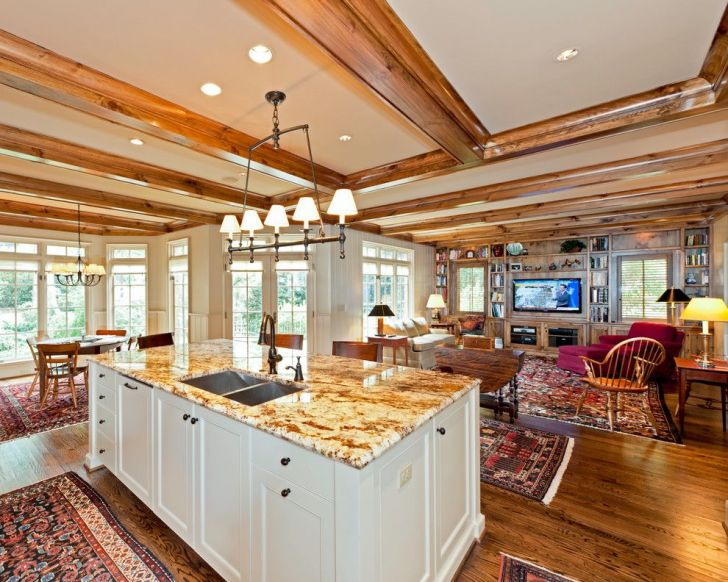 Kitchens Open Small Plan Kitchen Rustic