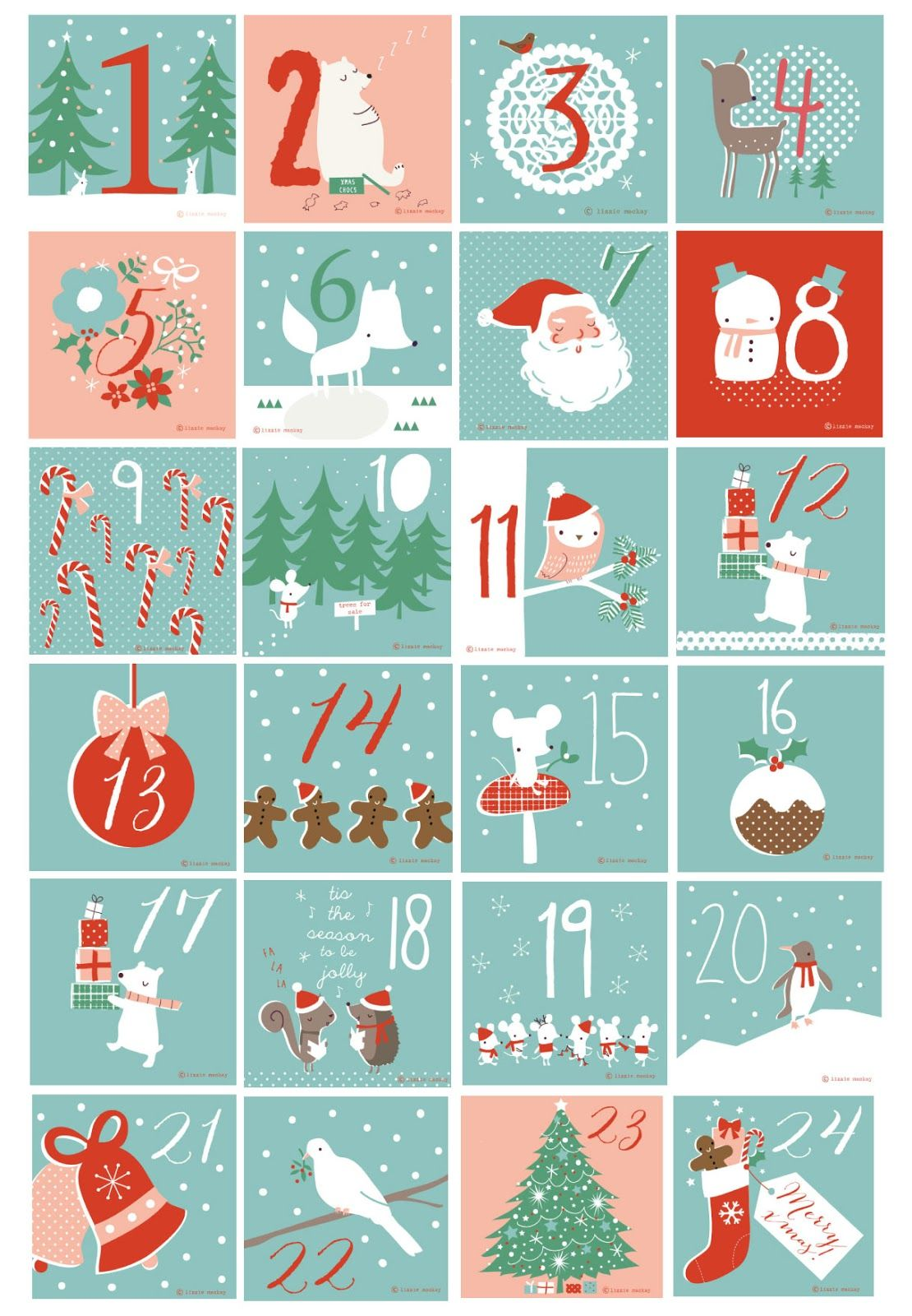 Free Printable Numbers Used For Our Beer Advent Calendar