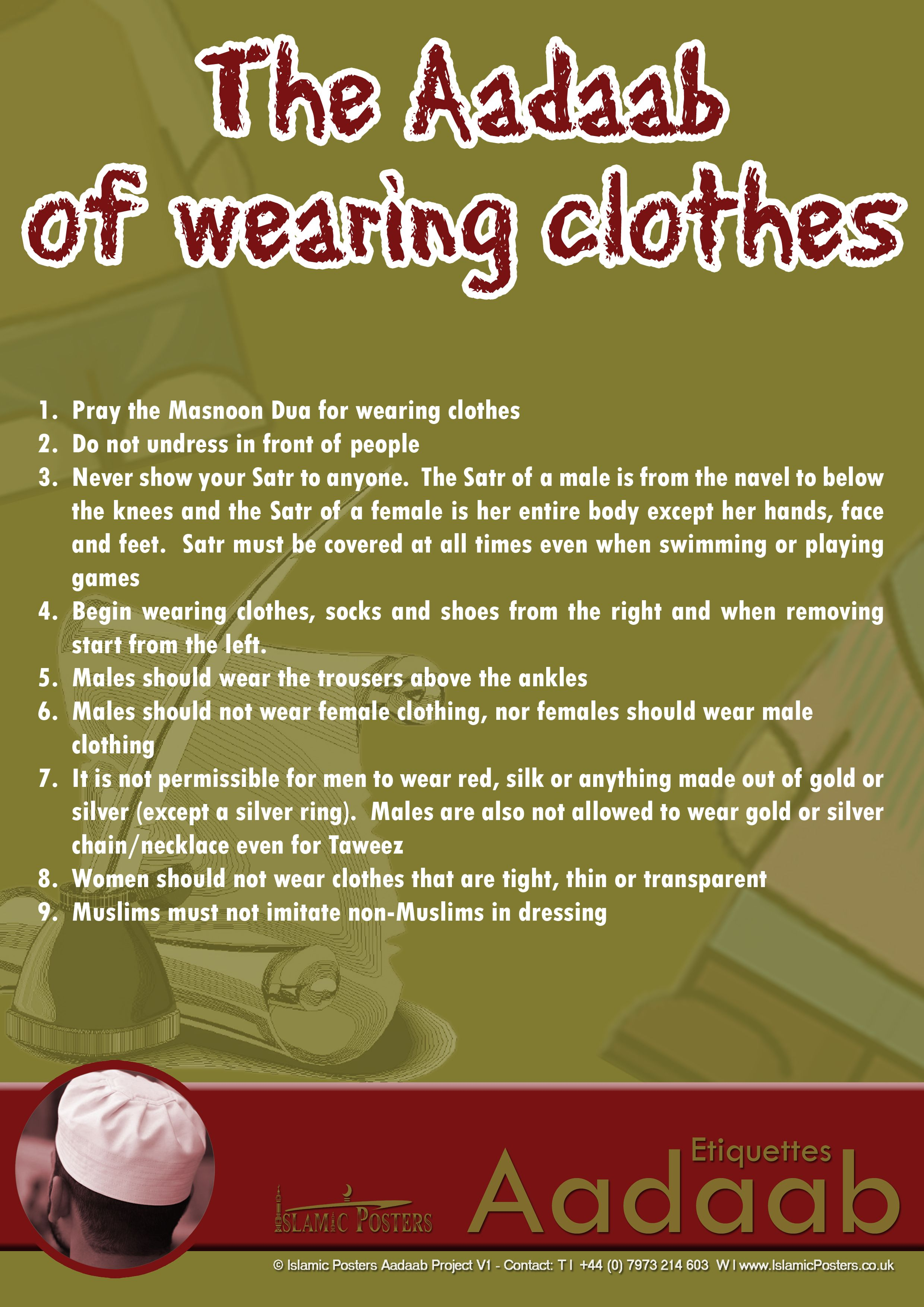 The Adaab Of Wearing Clothes Islamic Manners