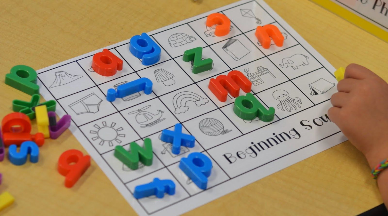A Place Called Kindergarten Beginning Sounds Match Up
