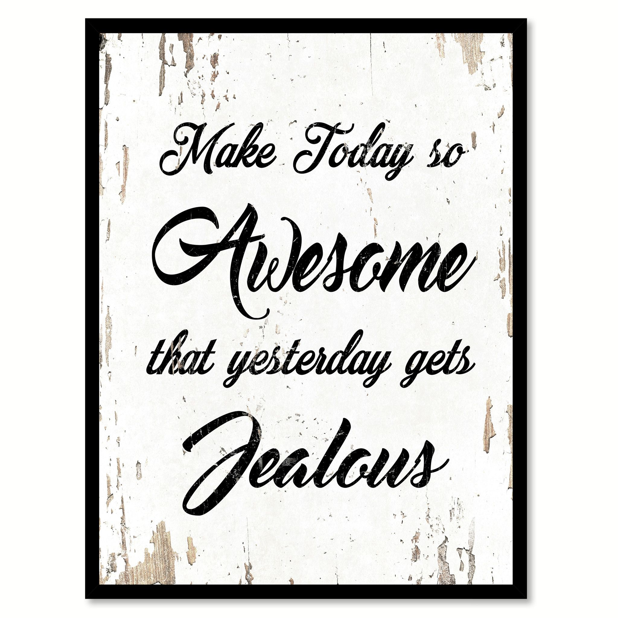 Make Today So Awesome Quote Saying Home Decor Wall Art
