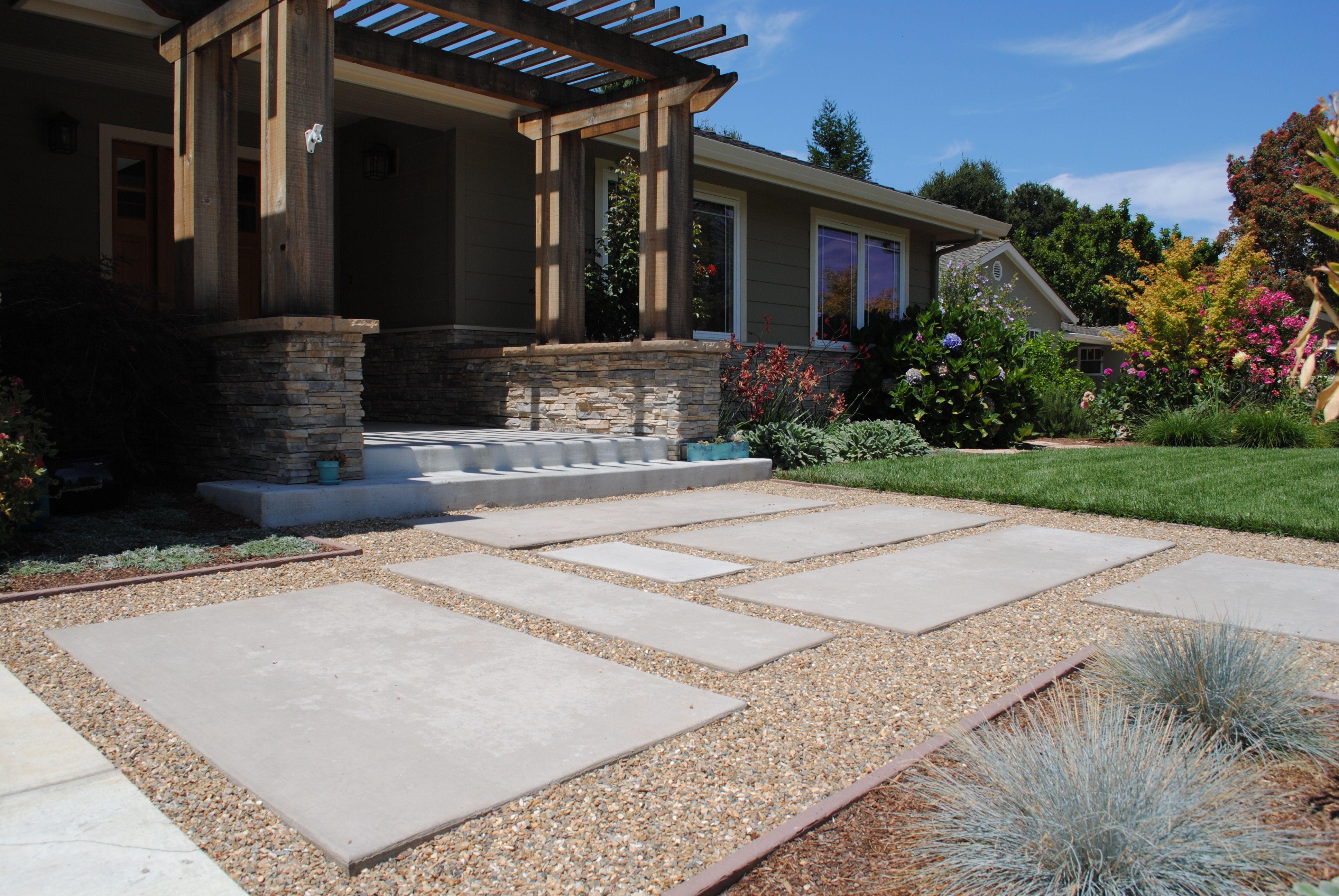 Renovation 3 Front Yard Concrete Ideas On Mountain View ... on Concrete Front Yard Ideas id=54999