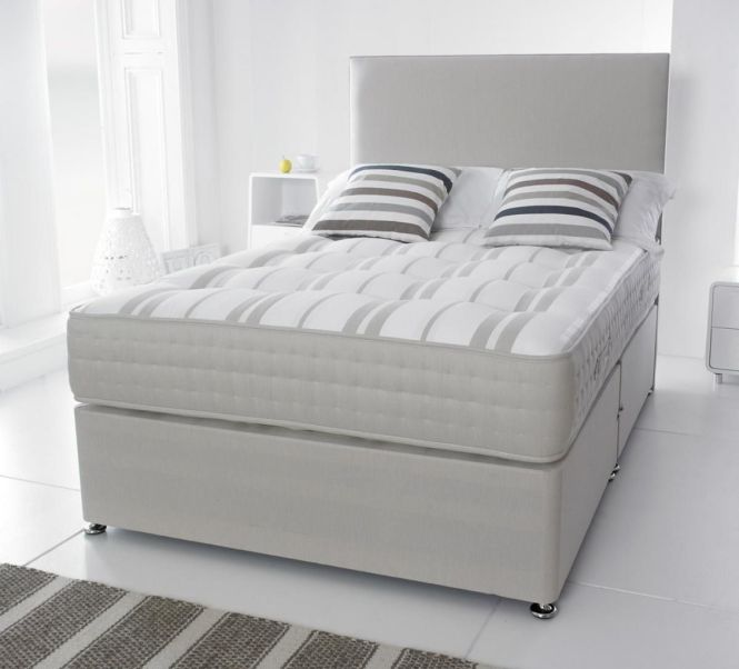 White Small Double Bed For Bedroom With