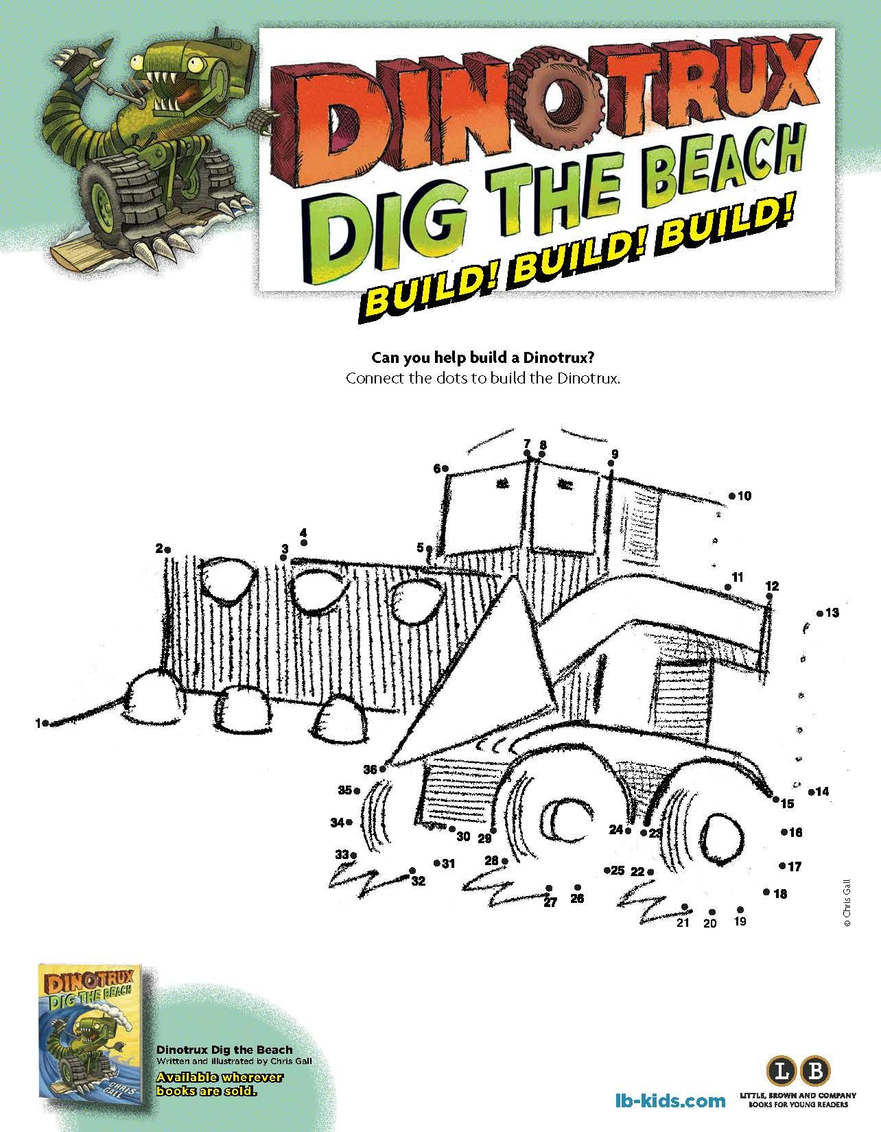 Dinotrux Dig The Beach Connect The Dots