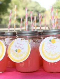 Party Ideas - Colored Lemonade