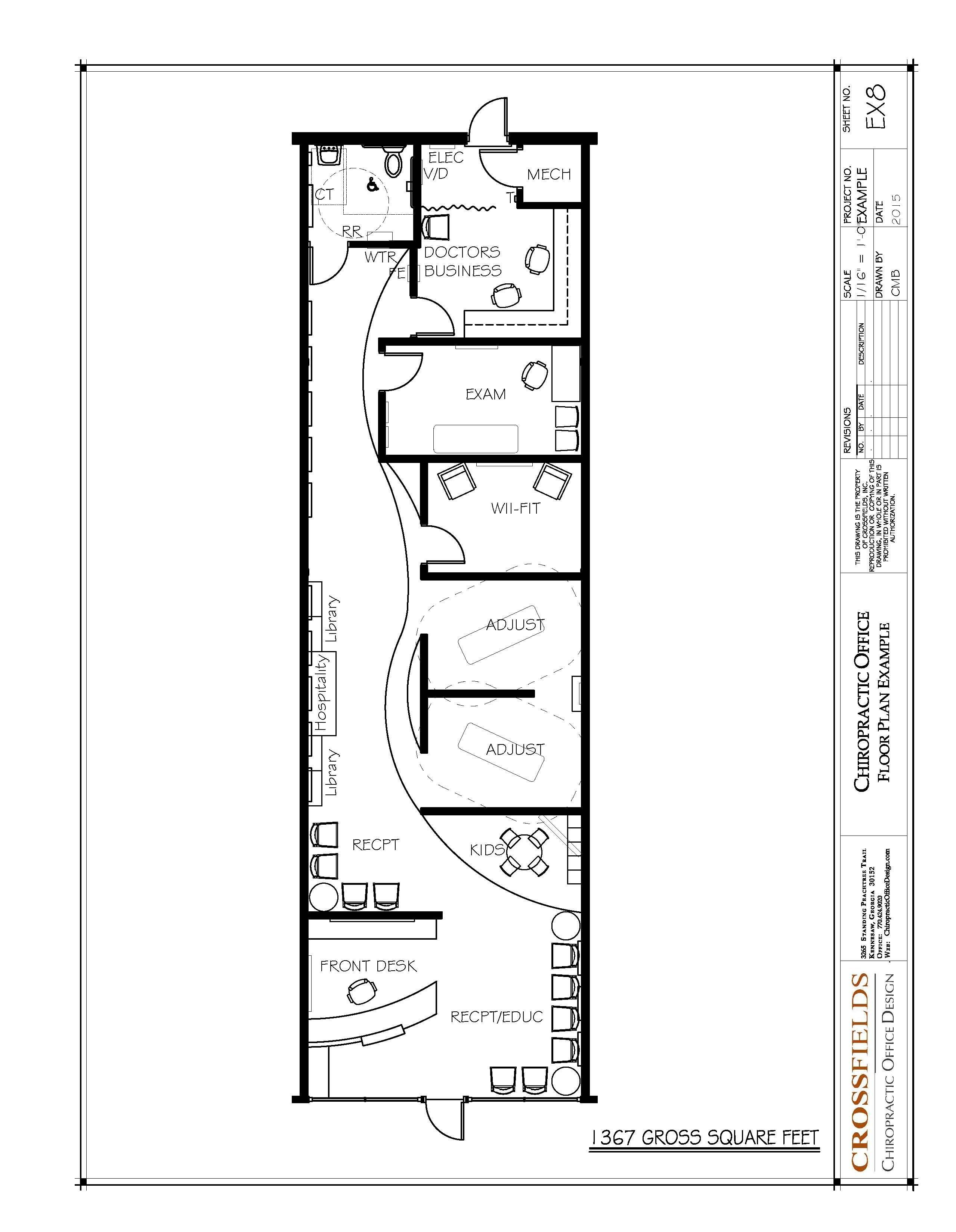 Chiropractic Floor Plan Semi Open Adjusting Retail Start