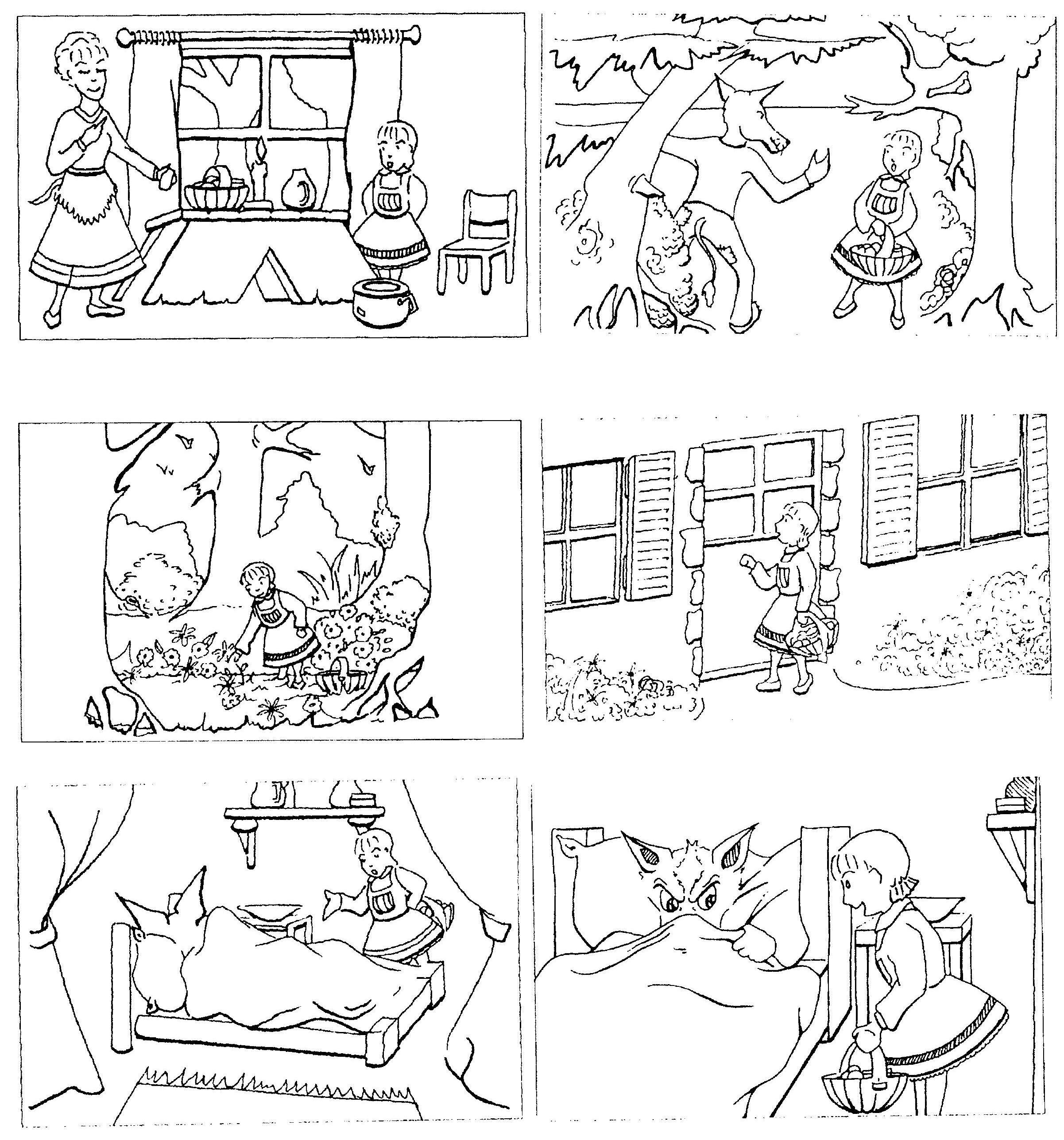 Images Sequentielles Le Petit Chaperon Rouge
