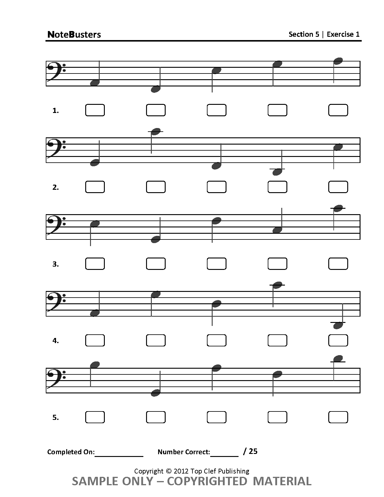 Notebusters Is A Music Workbook Designed To Increase Sight