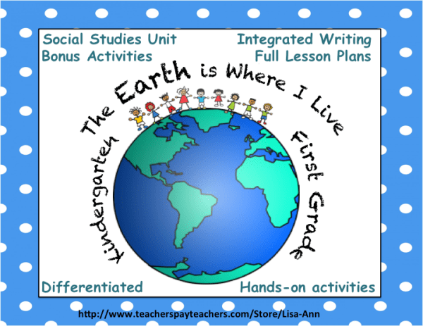 """Where We Live"" social studies unit for kindergarten and ..."