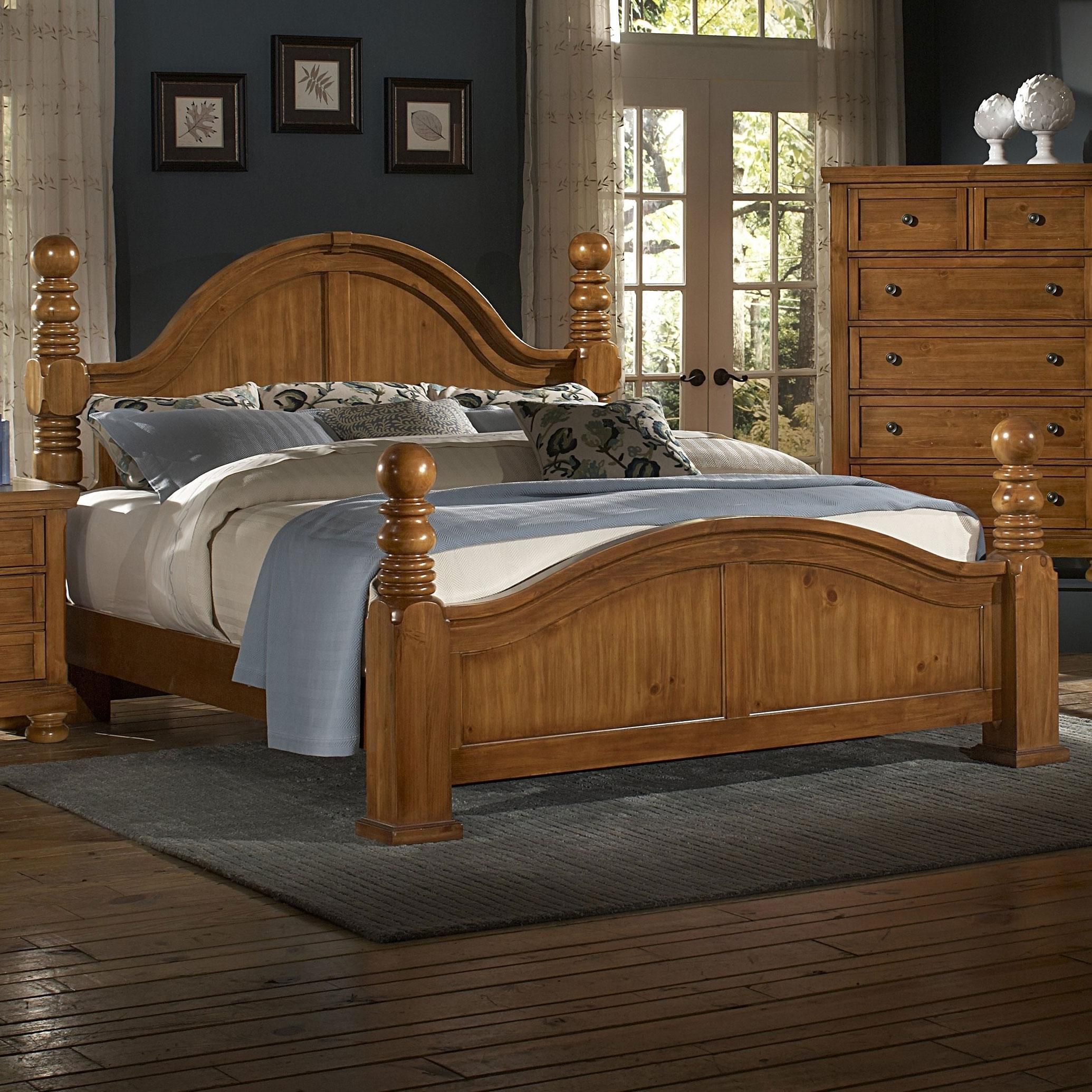 Reflections Queen Cannonball Poster Bed By Vaughan Bassett