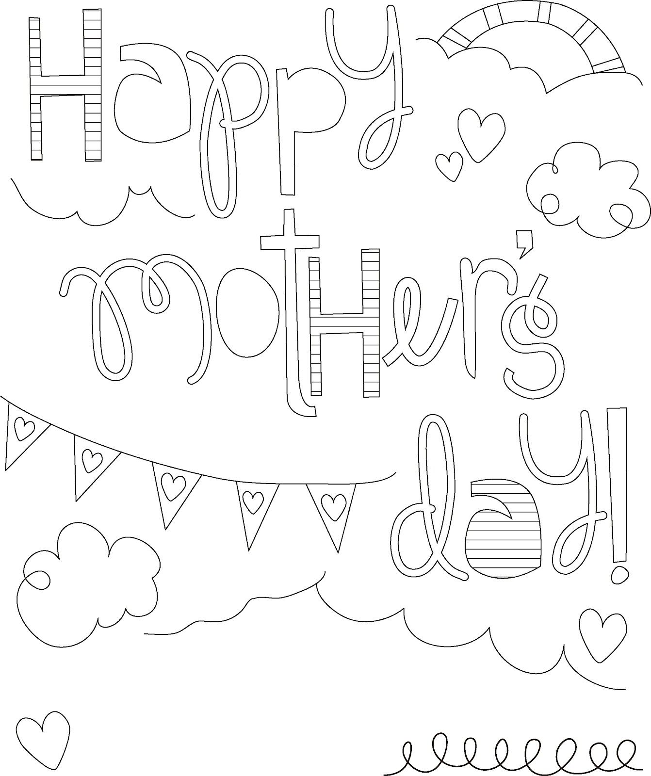 Here Is A Collection Of Some Mother S Day Coloring Pages Which Kids May Easily Print Out And