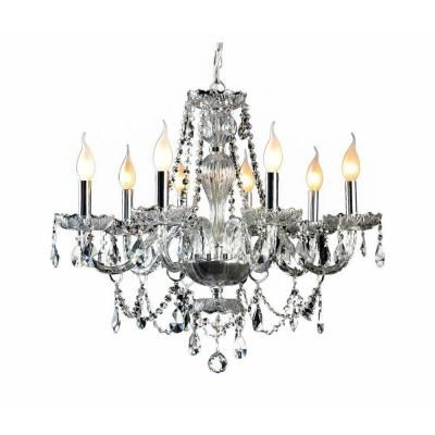Checkolite Venetian 8 Light Crystal And Chrome Chandelier 104993 15 At The Home