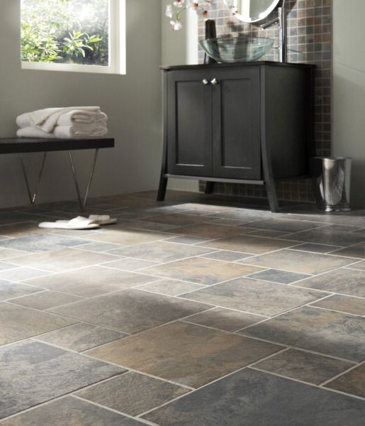 Slate Floorkeeping That Same Tile In The Bathroom Just Smaller Squares Upstairs Hall Bath