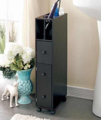 bathroom cabinet storage slim rolling cart organizer caddy shelves