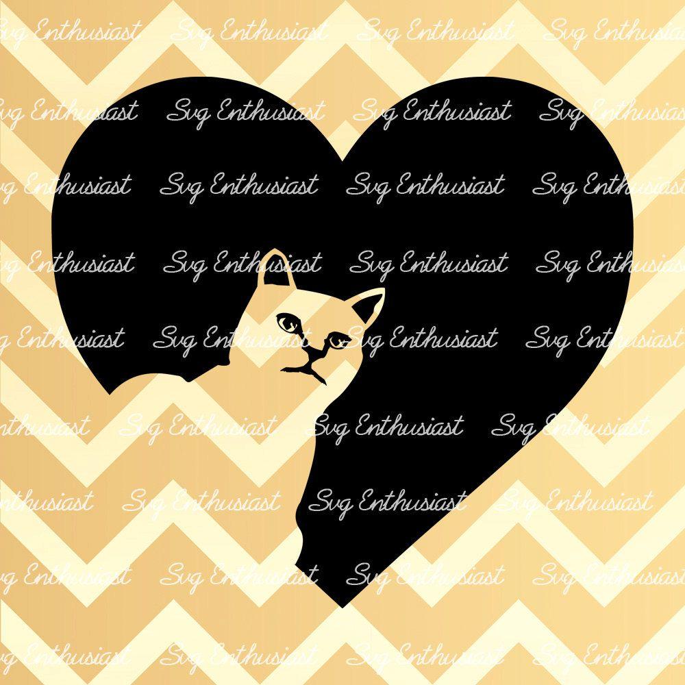 Download Cat Heart SVG, Cat love Svg, Cat Svg, Kitten Svg, SVG ...