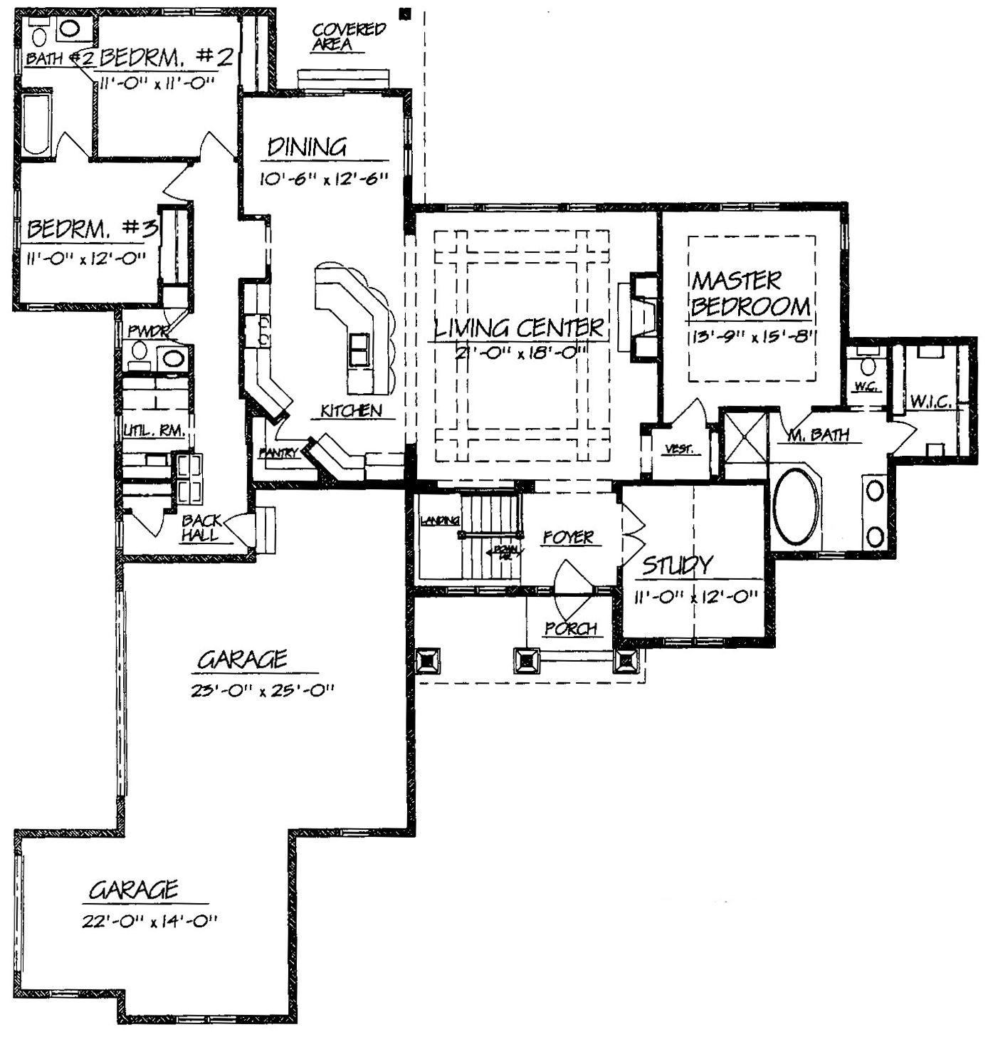 Luxury split level ranch house plans house floor ideas for Split level house floor plans