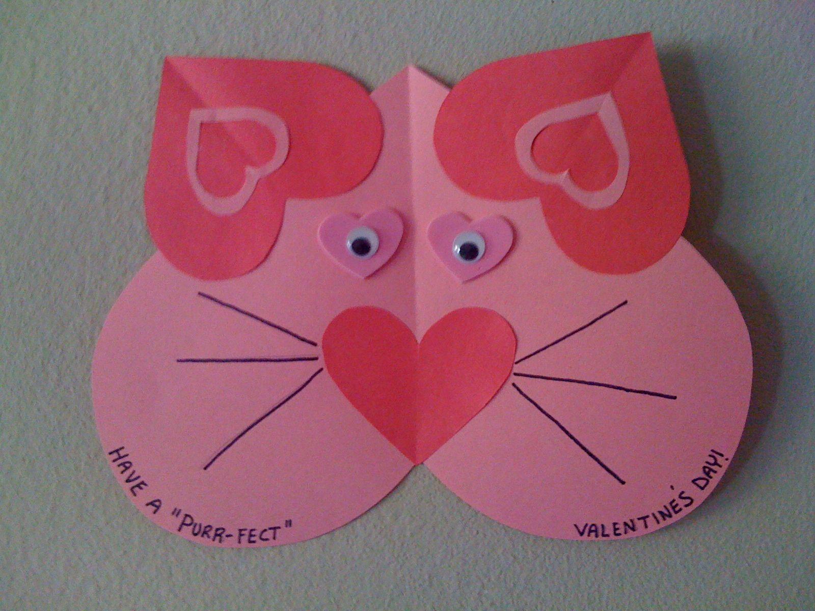 Valentine S Craft For Kids Easy Craft For Preschooler Heart Craft Valentine Craft