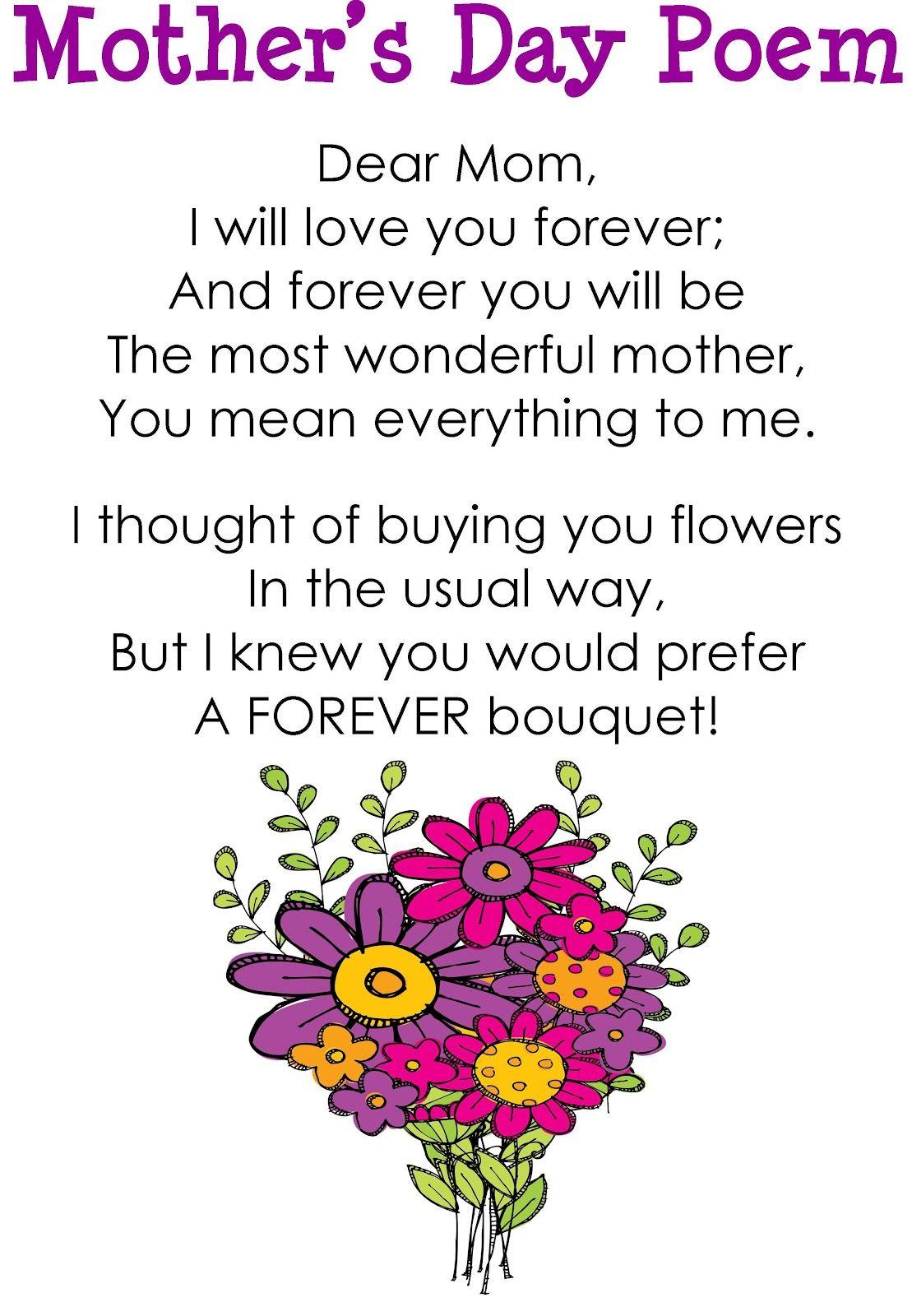 Kinder Craze A Kindergarten Blog Mother S Day Forever Bouquet And Freebie