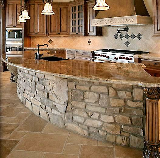Best 25 Stone Kitchen Island Ideas On Pinterest Stone