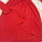 Victoriaus secret wrap dress orange red sexy curves red